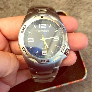Fossil Watch- Freestyle Men's EWC with Tin Box